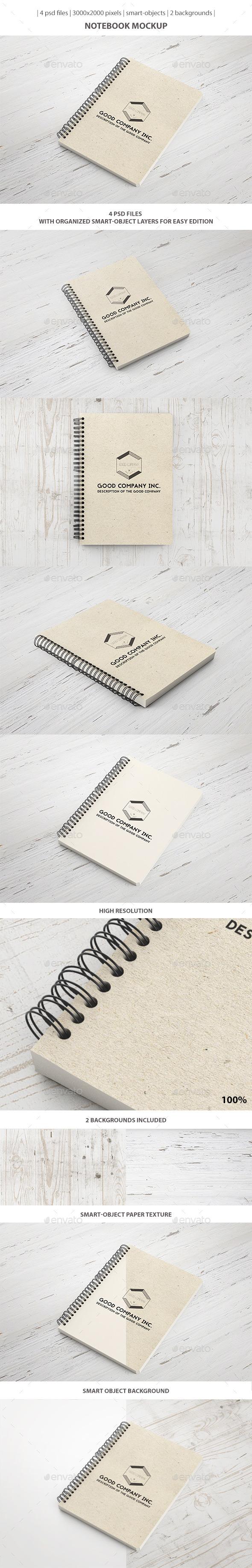 Notebook Mockup (Stationery)