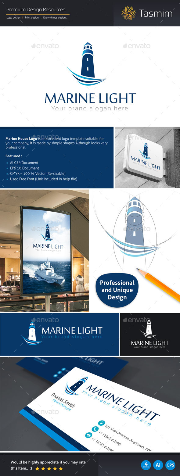 GraphicRiver Marine Light Logo Template 9517295