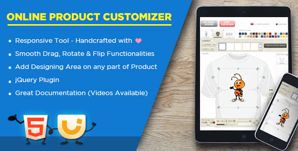 CodeCanyon Online Product Customizer 9444532