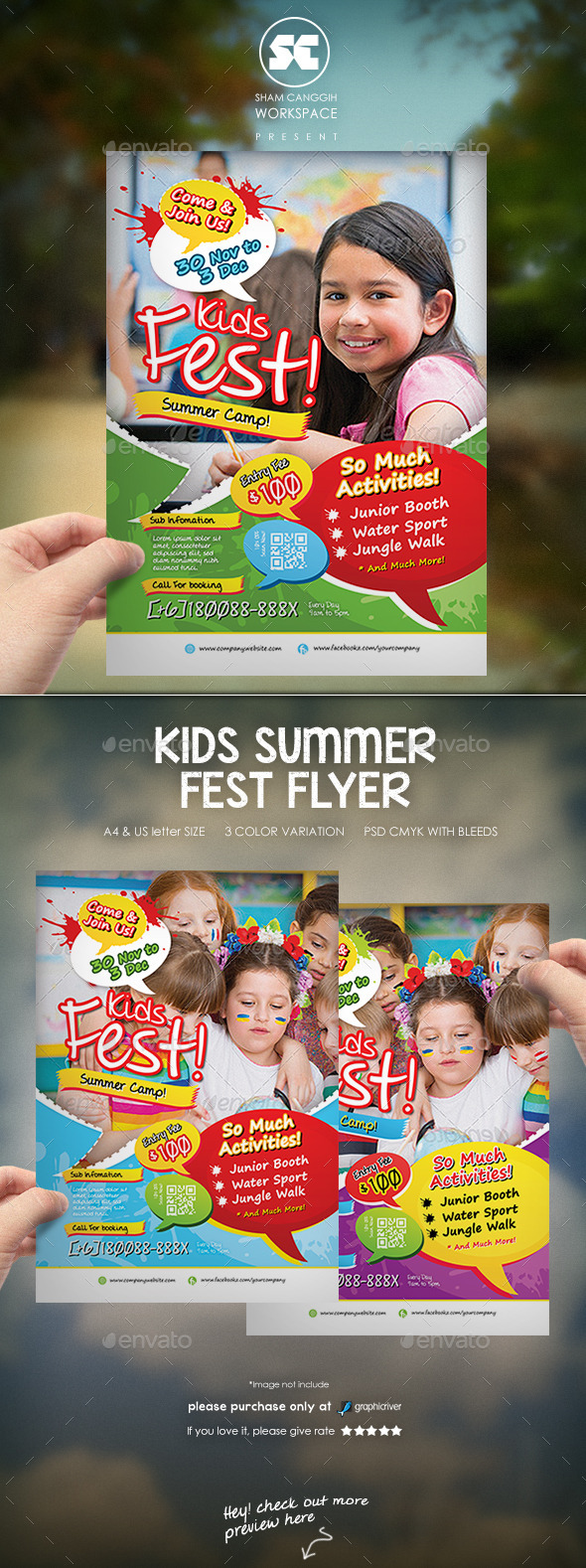 GraphicRiver Kids Summer Fest Flyer 9517435