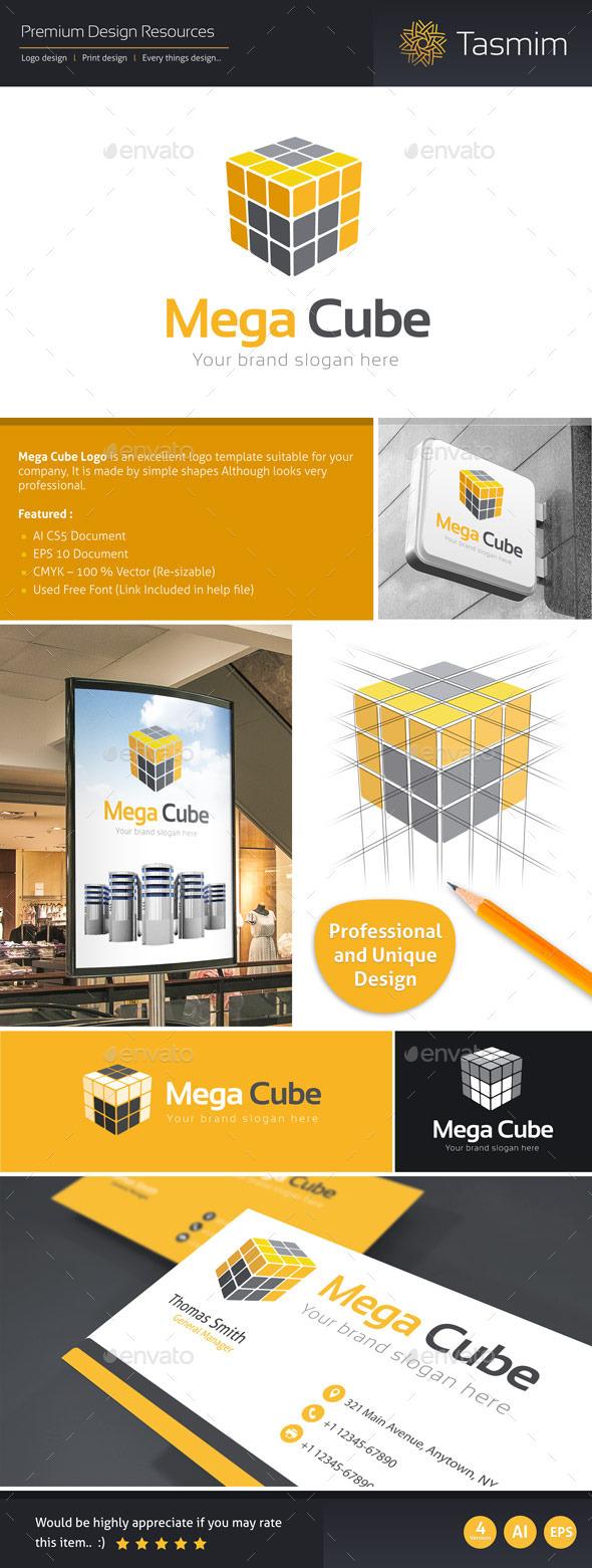 GraphicRiver Mega Cube Logo Template 9517503