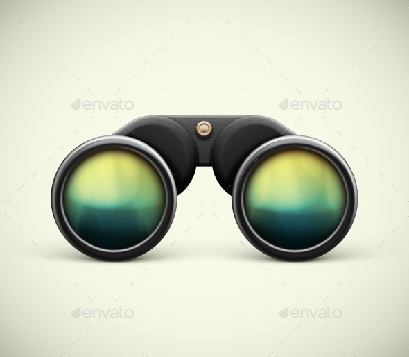 GraphicRiver Isolated Binoculars 9517515