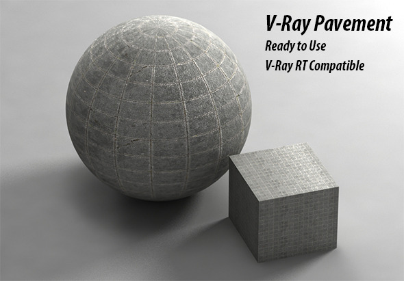 3DOcean V-Ray Pavement Material 9517524