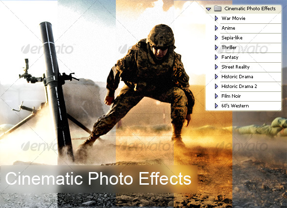 GraphicRiver Cinematic Photo Effects 121547