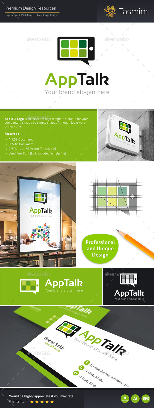 GraphicRiver AppTalk Logo Template 9517753