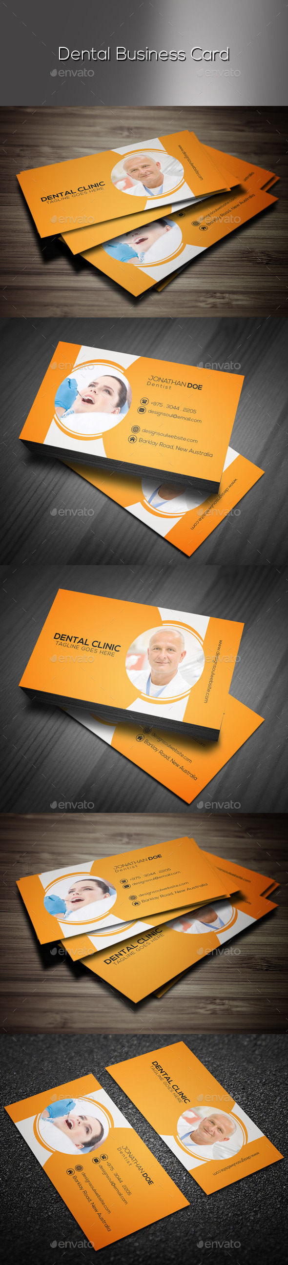 GraphicRiver Dental Business Card 9517986