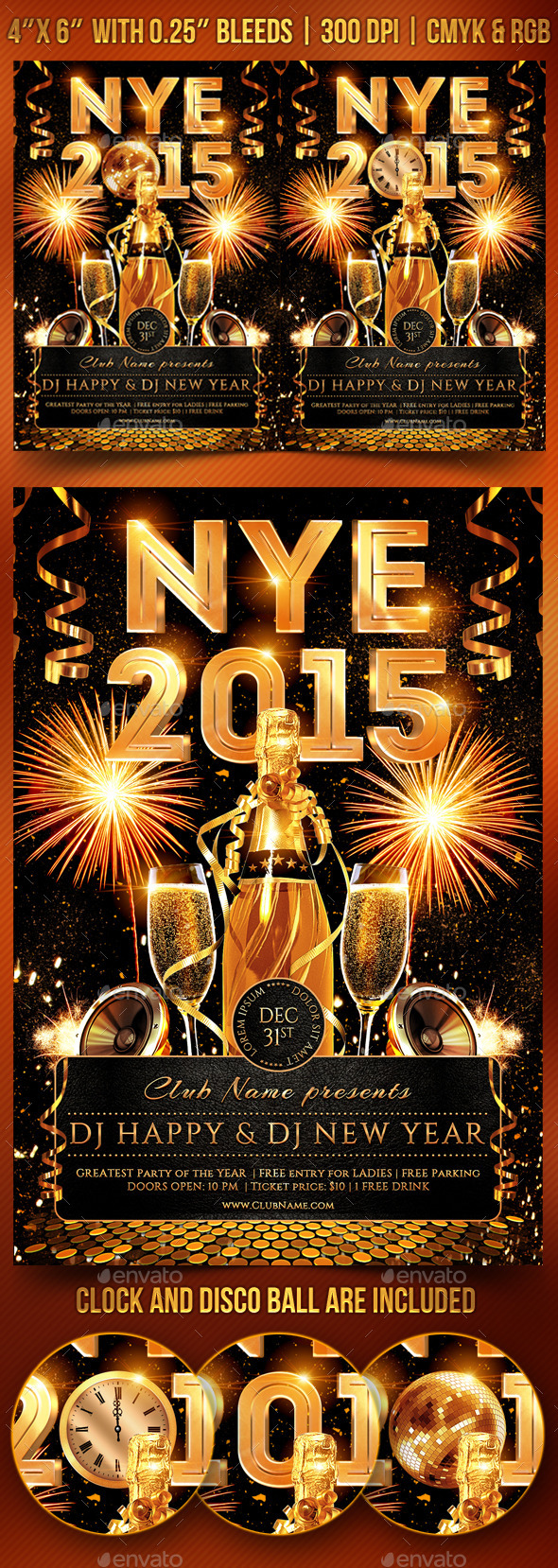 GraphicRiver New Year s Eve Party Flyer 9518294