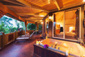 Romantic Deck on Tropical Home with Bathtub and Candles - PhotoDune Item for Sale