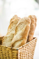 french baguette in basket - PhotoDune Item for Sale
