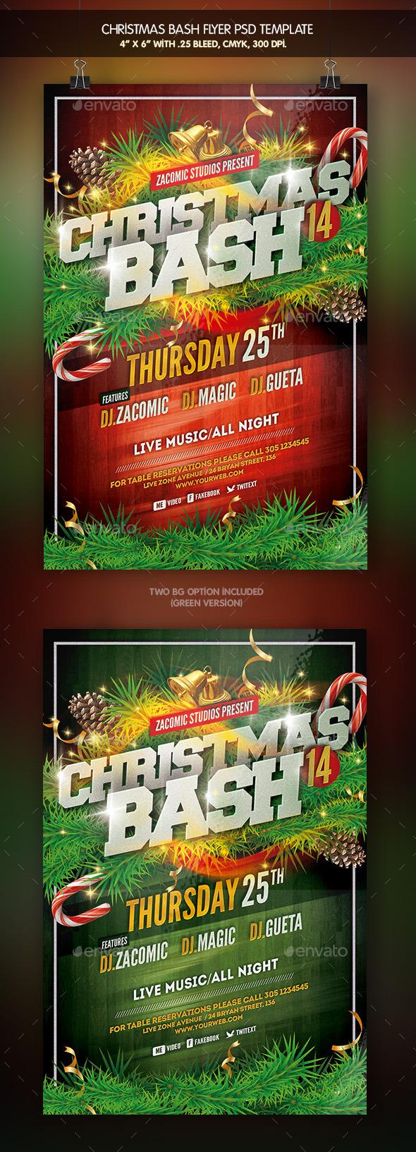 GraphicRiver Christmas Bash Flyer Template 9518560
