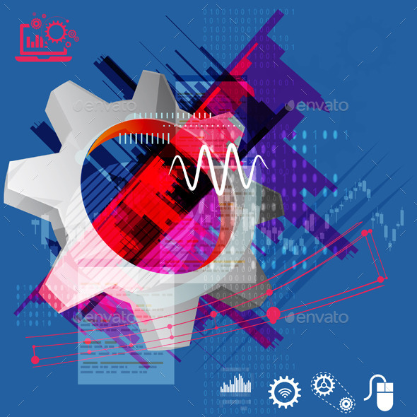 GraphicRiver Gear Abstract Illustration 9518634