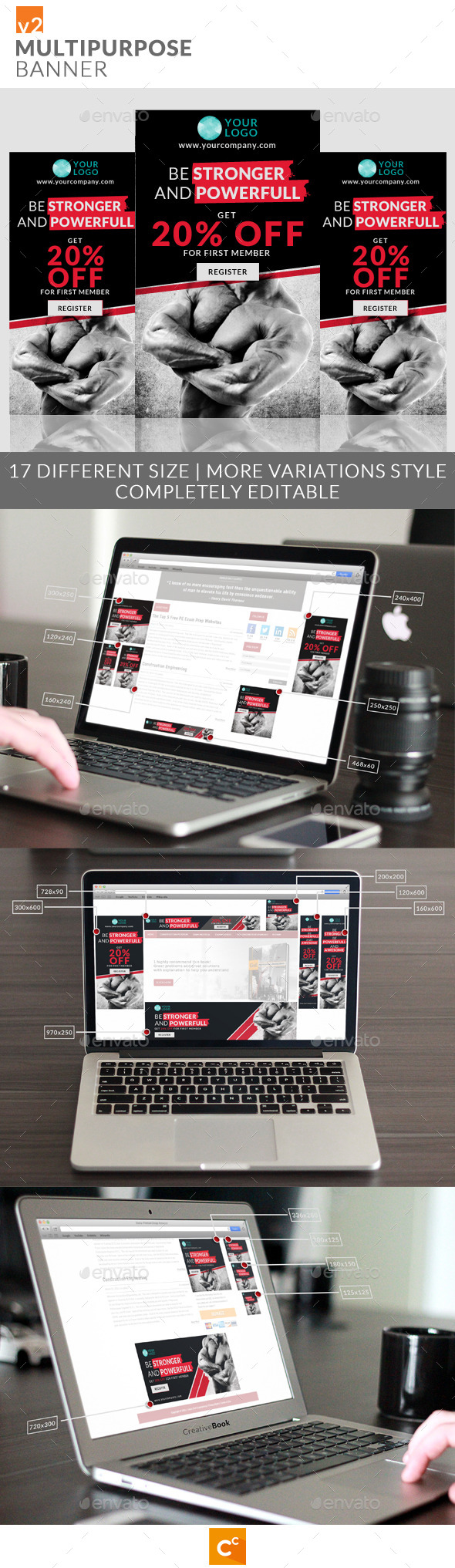 GraphicRiver Multipurpose Banner Ads v2 9453049