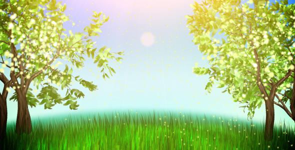 Apple trees  VideoHive Motion Graphic  Backgrounds  Nature 121559