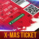 Christmas Event Tickets Print Ready - GraphicRiver Item for Sale