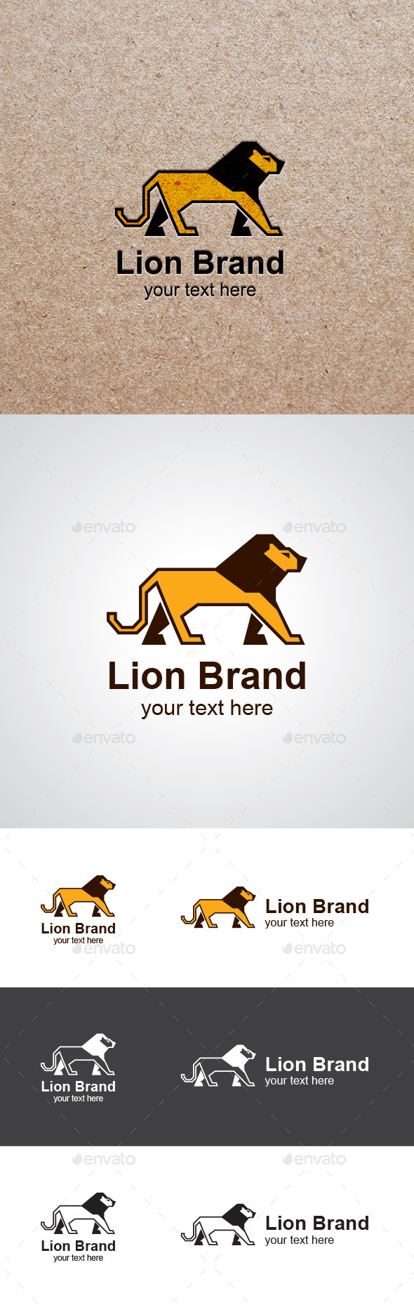 GraphicRiver Walking Lion Vector Logo Design 9519122