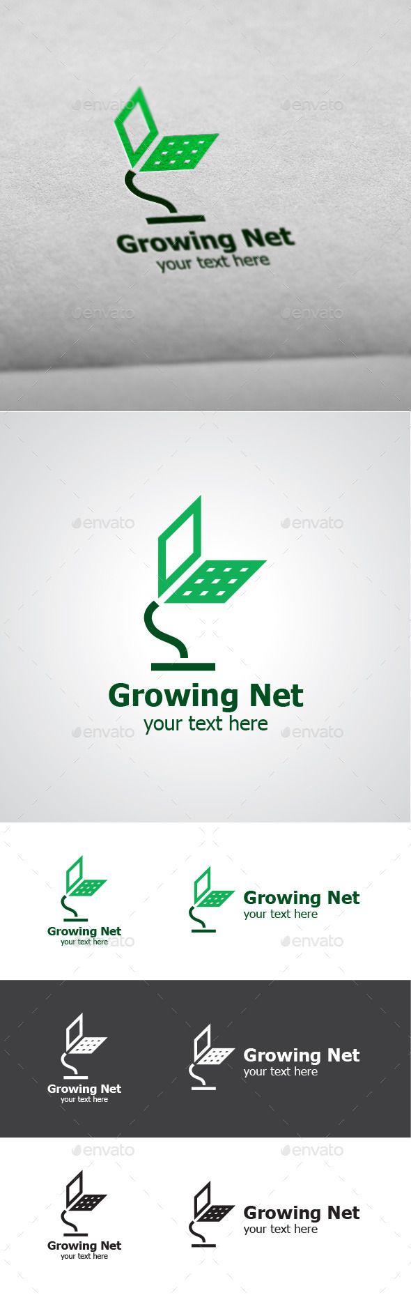 GraphicRiver Growing Net Vector Logo Design 9519131