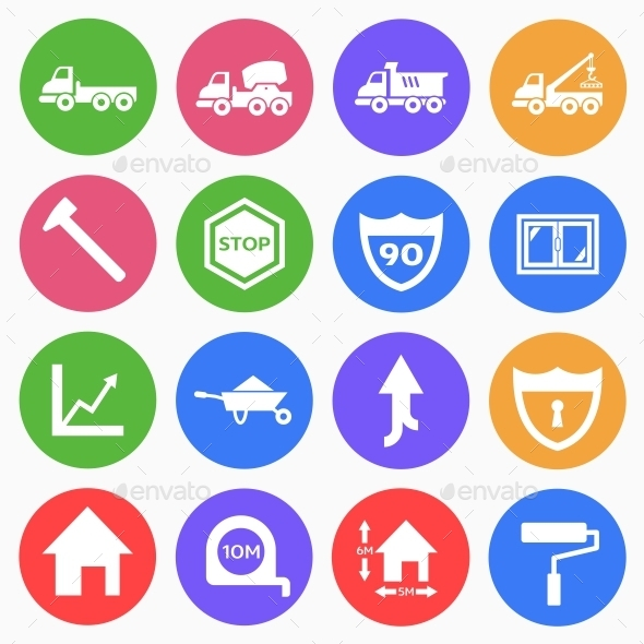 GraphicRiver Construction Flat Icons 2 9519135