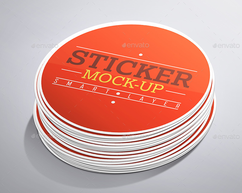 Round Stickers Mock-Up