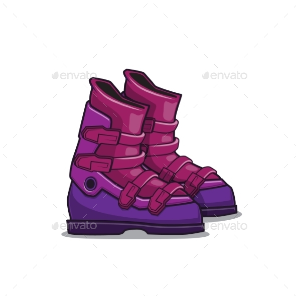 GraphicRiver Ski Boots 9519302