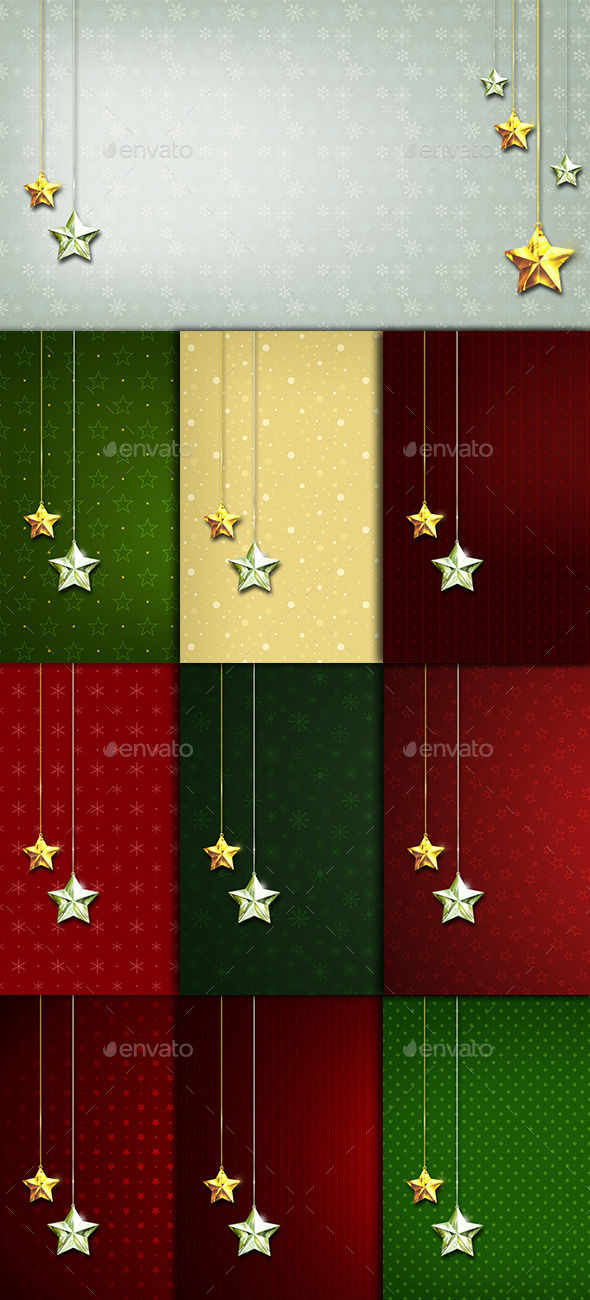 10 Stars Ornaments Backgrounds