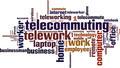 Telework Word Cloud Concept - PhotoDune Item for Sale