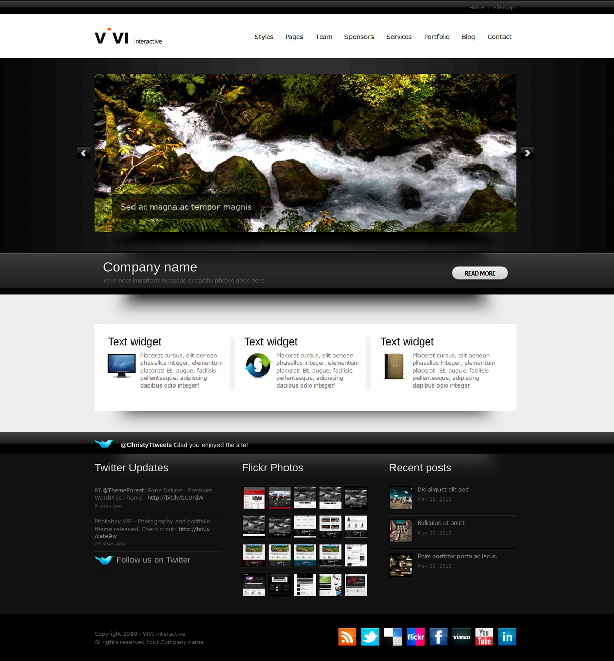 VIVI Theme - WP version