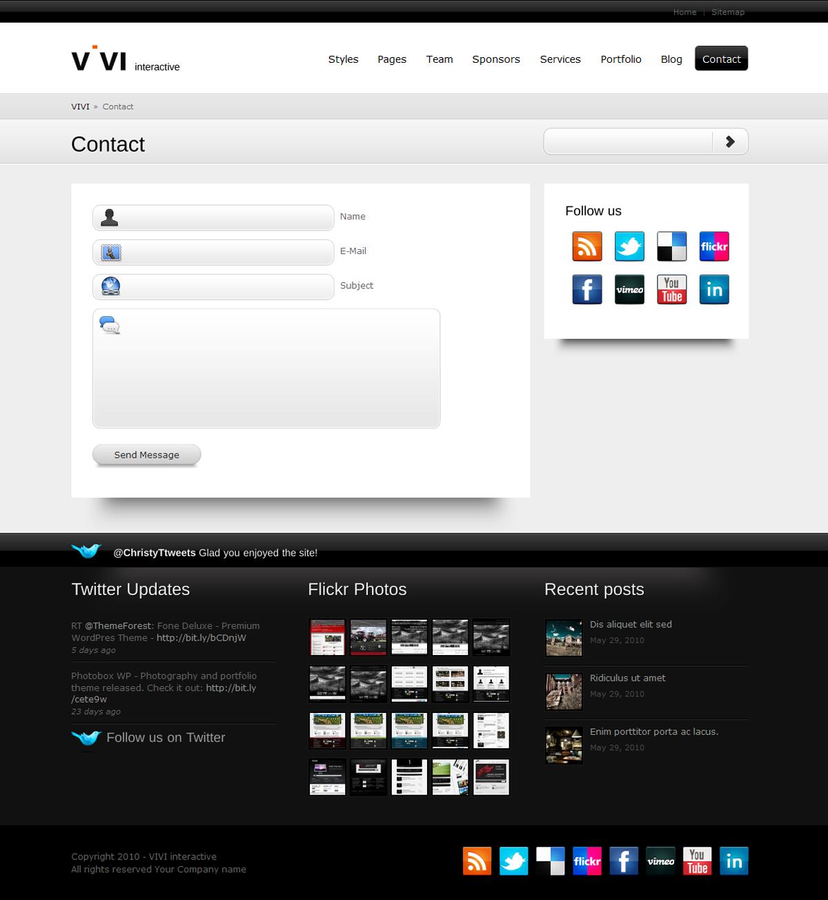 VIVI Theme - WP version