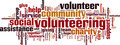 Volunteering Word Cloud Concept - PhotoDune Item for Sale