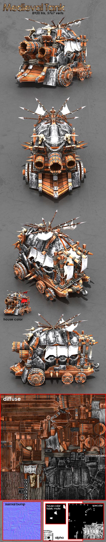 3DOcean Medieval Tank 9519835
