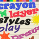 24 Crayon Styles - GraphicRiver Item for Sale