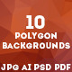 10 Polygon Backgrounds or Triangle Textures - GraphicRiver Item for Sale