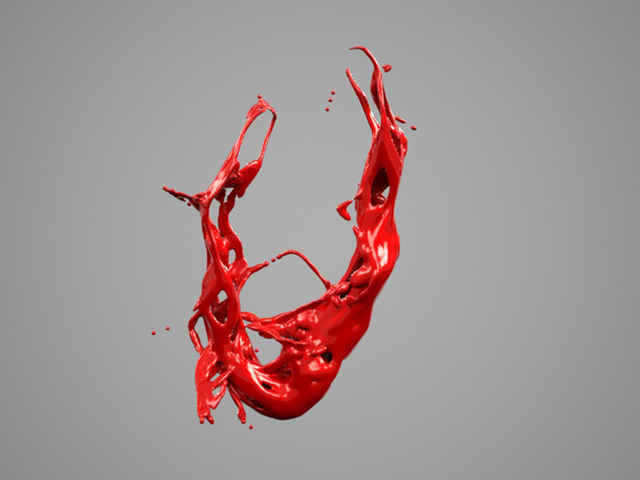 Alphabet Liquid: V - 3DOcean Item for Sale
