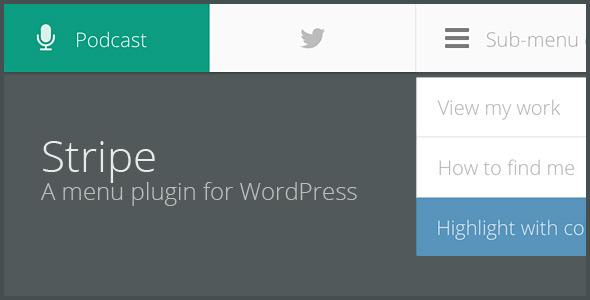 STRIPE A lightweight menu plugin for WordPress