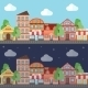Illustration of a Town in Night and Day - GraphicRiver Item for Sale