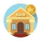 Illustration of a Bank and Coin - GraphicRiver Item for Sale