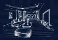 Hand drawing Interior Design for living room - PhotoDune Item for Sale