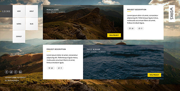 ThemeForest LEORE Creative Photography Template 9520624