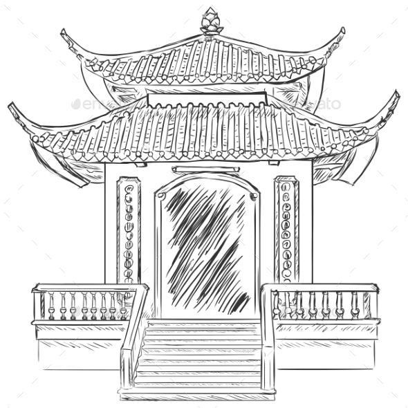 GraphicRiver Buddist Pagoda 9520647