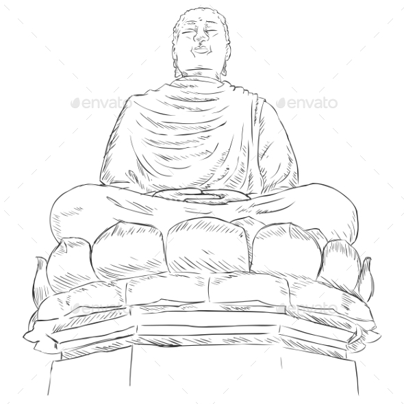 GraphicRiver Monument Buddha on the Lotus 9520650