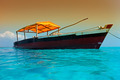Wooden boat on water - PhotoDune Item for Sale