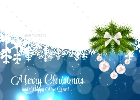 GraphicRiver Abstract Beauty Christmas and New Year Background 9520756
