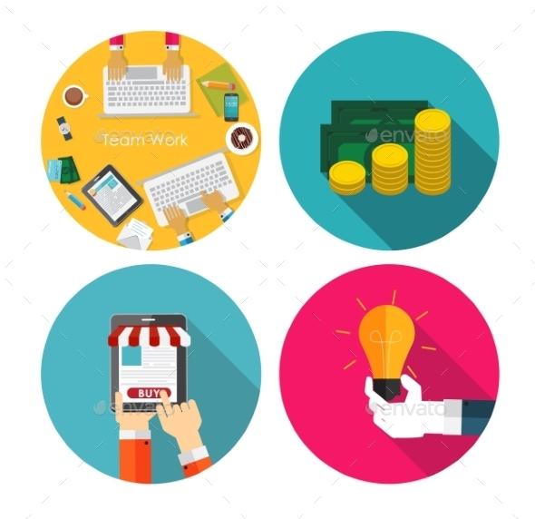 GraphicRiver Money Team Work Idea OnlineShopping 9520766