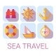 Sea Travel Icons in Flat Style - GraphicRiver Item for Sale