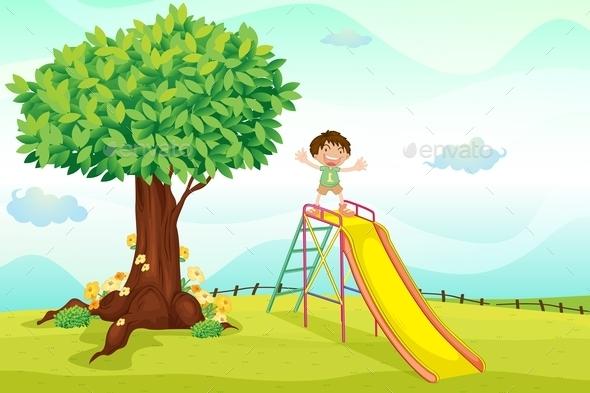 GraphicRiver Boy on Slide 9520907
