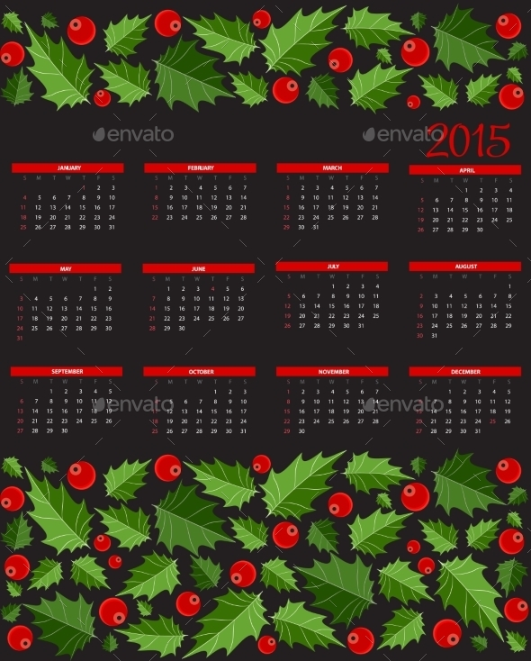 GraphicRiver New Year 2015 Calendar Vector Illustration 9520932
