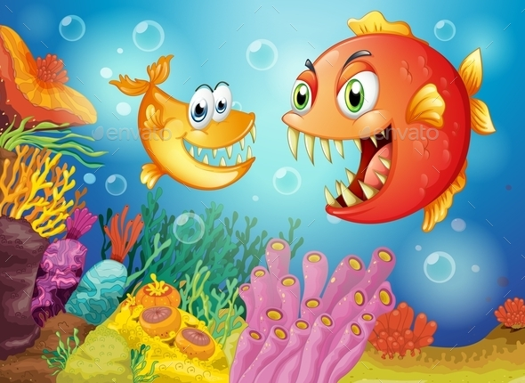 GraphicRiver Two Fishes under the Sea 9521278