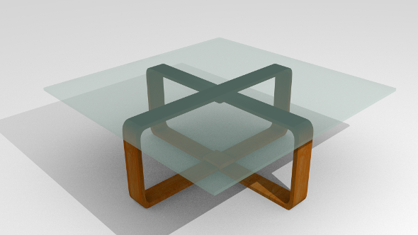 Modern coffee table - 3DOcean Item for Sale