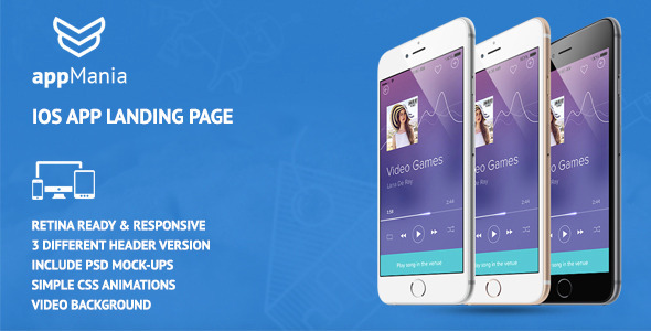 Image of AppMania - Simple App Landing Page