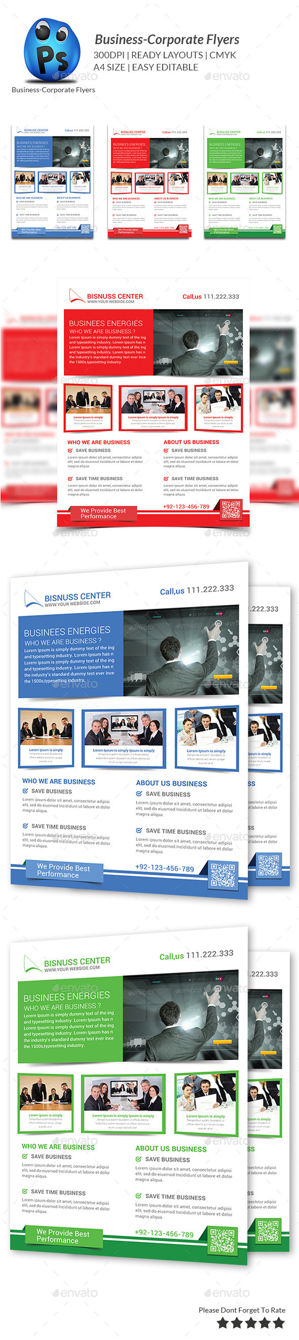 GraphicRiver Corporate Business Flyer Template 9348213