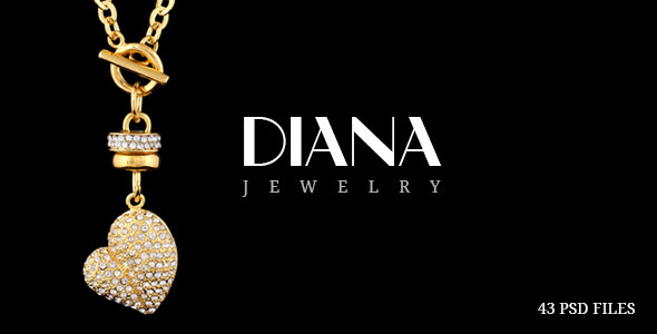 ThemeForest Diana Creative Jewelry PSD Template 9499345
